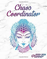 Chaos Coordinator 2020-2024 Planner: Psychedelic Buddha Five Year Monthly Organizer with Inspirational Quotes | 5 Year Schedule Agenda & Calendar with Spread View, To-Do's, Holidays, Notes & Vision Board