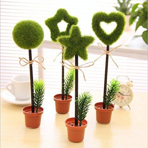 [해외]4 개 극세 0.7mm 귀여움 멋진 화분 꽃 식물 모양 프로모션 볼펜 사무실 학교 용품 학생 어린이 선물/4 pcs fine 0.7 mm pretty cool potted flower plant shape promo ballpoint pen office school supplies student children gift