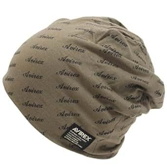 (アビレックス)AVIREX ロゴプリントワッチ(ニット帽子) ブラウン