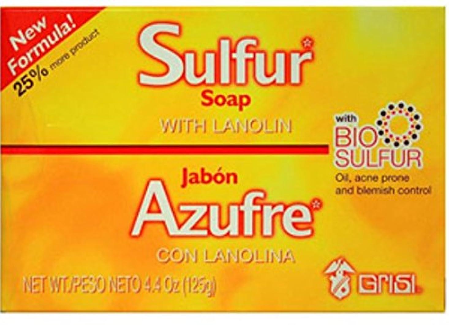 誰も気質怠惰Grisi ラノリン、4.4オズ(12パック)付きバイオ硫黄ソープ 12のパック