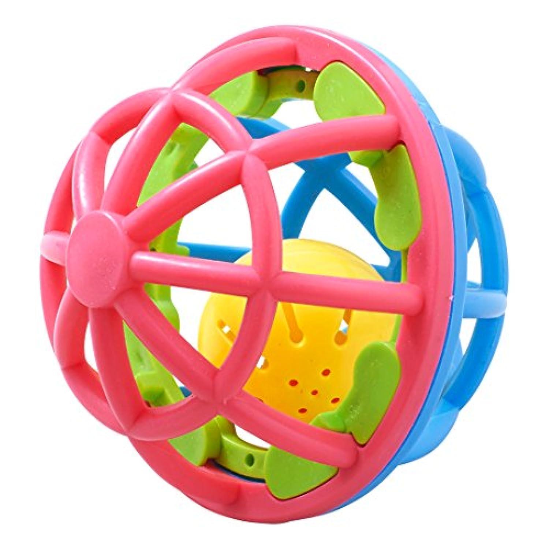 西松屋 [SmartAngel] ごきげんラトルボール(ピンク×ブルー)