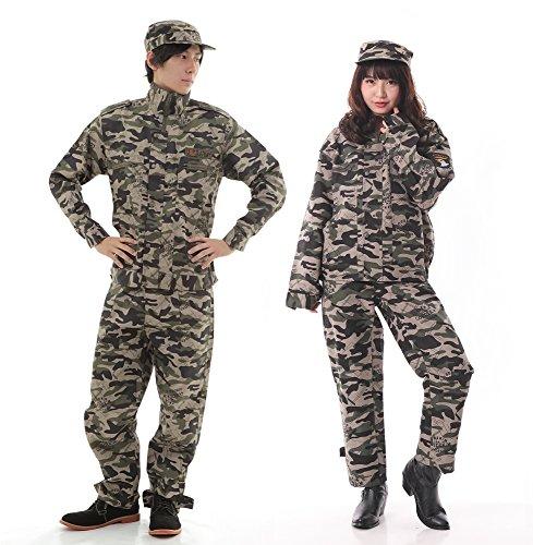 monoii 迷彩服 アーミー 軍人 コスプレ 衣装 コスチューム 長袖 ズボン 370
