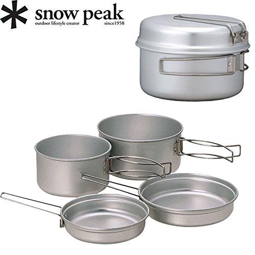 SNOWPEAK スノーピーク アルミパーソナルクッカーセット〔調理器具 キャンプ用品 クッカー コッヘル〕 (NC):SCS-020