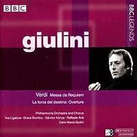 ヴェルディ:レクイエム/歌劇「運命の力」序曲(ジュリーニ)(1961, 1964)