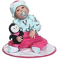 ピンキー57 cm 23インチビニールシリコンフルボディ新生児ベビーガールLifelike人形RebornベビーToddlers磁気口ダミー