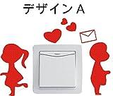 ノーブランド 白 男の子&女の子 デザインA ステッカー かわいい wall sticker