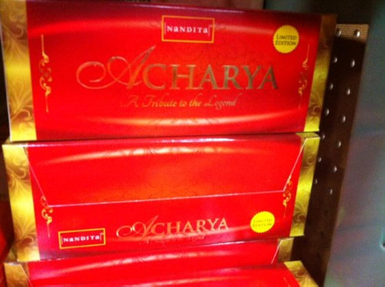定刻遺体安置所緯度Nandita Acharya Limited Edition ' Agarbathi ' Incense – 15 G x 12パック