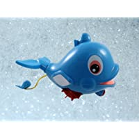 Swimming Dolphin Floating Bathtub Bath Toy for kids with Water Squirter by Liberty Imports [並行輸入品]