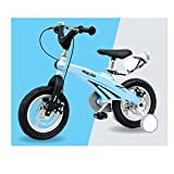 SENQI 子供用自転車 幼児自転車 16インチ 前後ディスクブレーキ 補助輪付き 組み立て式(ブルー)