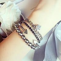 Generic aファミリの4つの美しいレトロダイヤモンド手チェーンブレスレットバングルリストバンド