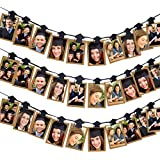 Aneco 卒業式用キャップ 写真バナークリップ ガーランド 卒業式用キャップ 写真クリップ ガーランド 2019年卒業パーティー用デコレーション 30個
