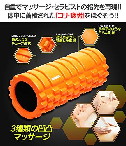 ACELETE フォームローラー オレンジ 写真付きマニュアル