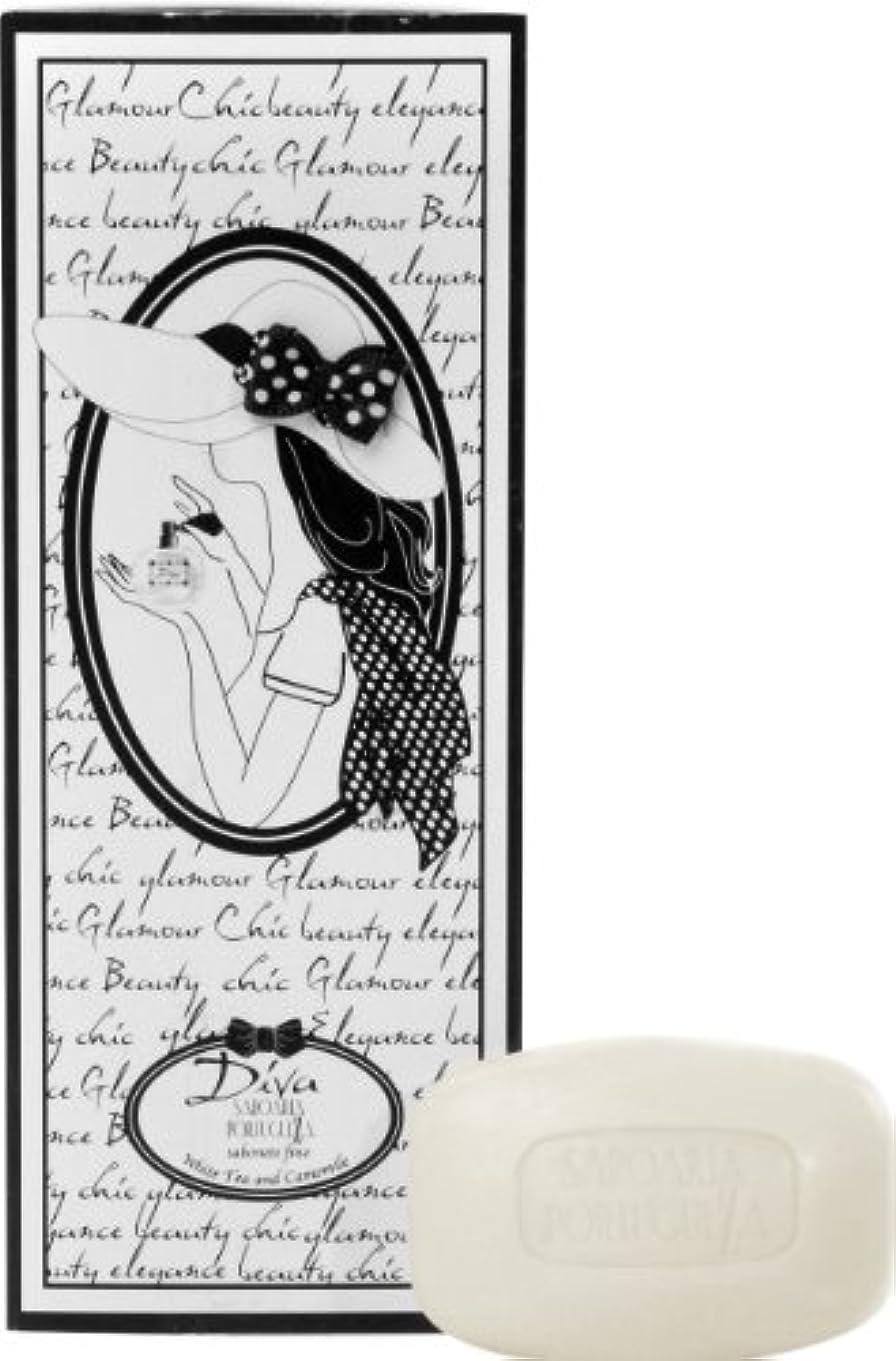 出くわすシアー満員サボアリア ディーバ/diva ソープセット3×150g ホワイトティー&カモミール