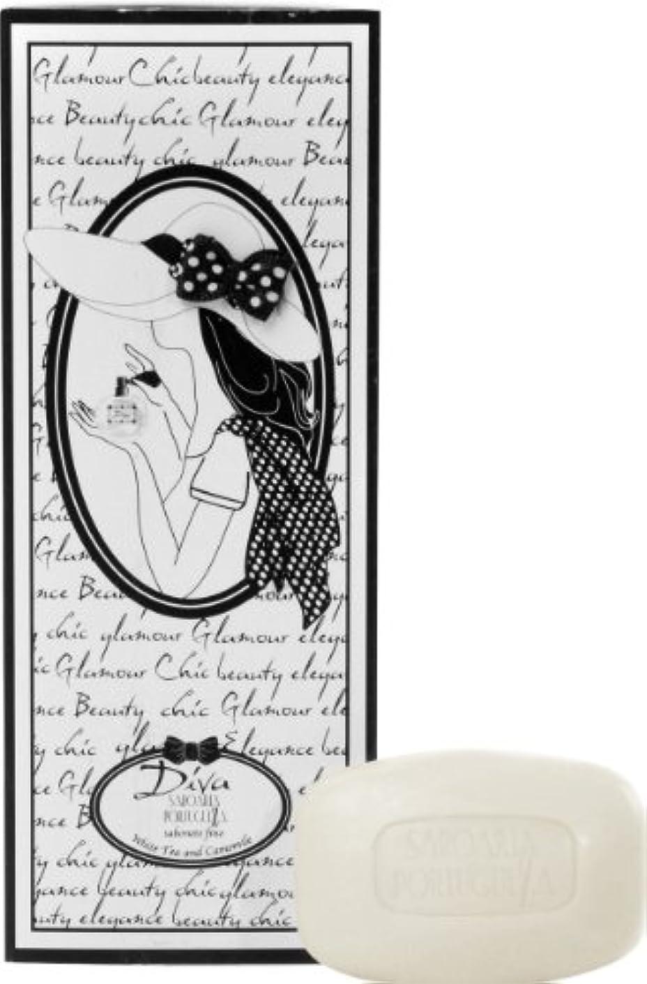 小切手受け入れるトチの実の木サボアリア ディーバ/diva ソープセット3×150g ホワイトティー&カモミール