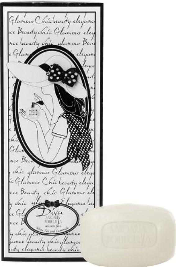 酸っぱいクラシック拒絶サボアリア ディーバ/diva ソープセット3×150g ホワイトティー&カモミール