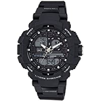 Q&Q Analog-Digital Black Dial Men's Watches - GW86J001Y