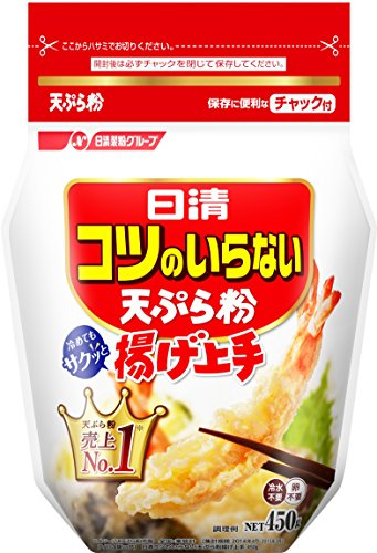 日清コツのいらない天ぷら粉 チャック付 増量 500g