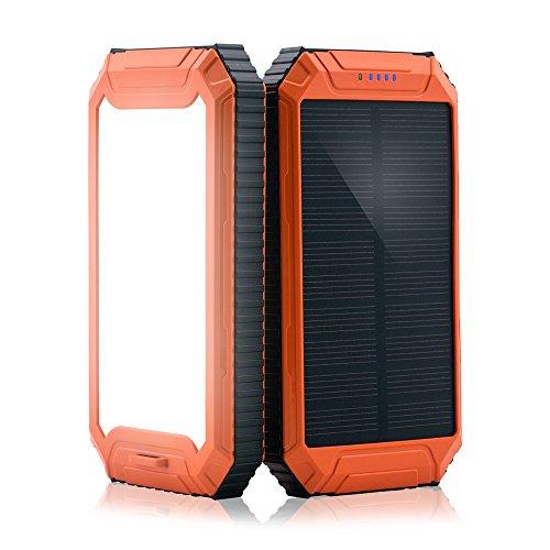 PowerGreen モバイルバッテリー 10000mAh ソーラーチャージャー/パネル 防水 2U...