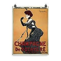 ヴィンテージポスター–シャンパンde Rochegre–プレミアム光沢フォト用紙ポスター 18x24