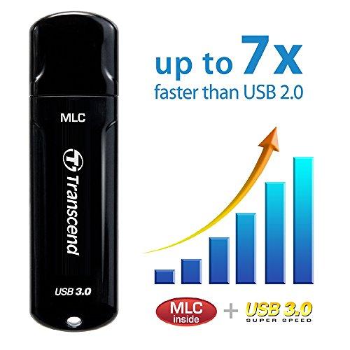 USBメモリ 32GB USB 3.0 キャップ式 ブラック TS32GJF750K