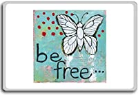 Be Free - motivational inspirational quotes fridge magnet - 蜀キ阡オ蠎ォ逕ィ繝槭げ繝阪ャ繝