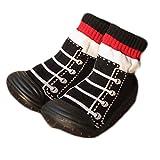 ベビーシューズ ファーストシューズ ソックス付き 屋内 履き トレーニングシューズ 編み上げブーツ 風(11cm)