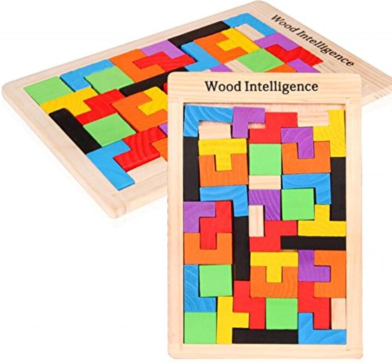 HuaQingPiJu-JP 創造的な木製の教育的なパズルアーリーラーニング番号の形の色の動物のおもちゃキッズのための素晴らしいギフト