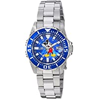 Invicta Women's Disney Limited Edition Quartz Watch with Stainless-Steel Strap, Silver, 16 (Model: 25571