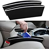 2PCS Car Seat Gap Filler Auto Seat Console Organizer Car Pocket Organizer Car Interior Accessories Car Seat Side Drop Caddy Catcher CD Cellphone Holder Case(Black)