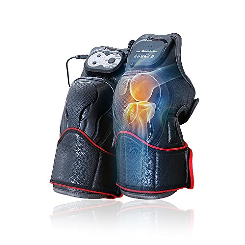 夕食を食べる操るコテージマッサージ器 マッサージ ひざ マッサージャー ヒーター マッサージ機 振動 レッグマッサージャー 通気性 フットマッサージャー 赤外線療法 膝サポーター ストレス解消(二枚入り)