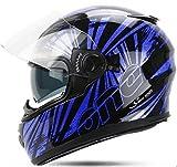 X.N.S(希望)バイクヘルメット フルフェイス ダブルシールド YH-970 (L, 商品6)