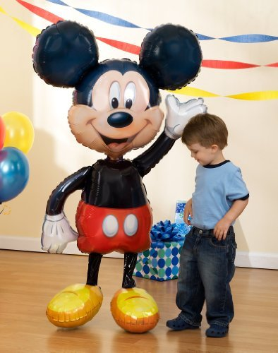 1 X Lets Party By Party Destination Disney Mickey Mouse Airwalker 52 Jumbo Foil Balloon by Anagram