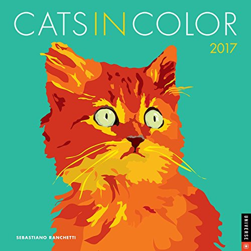 Cats in Color 2017 Wall Calendar (Square Wall)