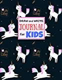 Draw and Write Journal for Kids: Cute Unicorn Matte Cover Design for Drawing, Creative Writing, Doodling, Creating Your Own Story, Illustration Book and Diary (Perfect Gift for Kids, Girls, Teens, Tweens and Women) Large 8.5