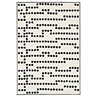 AVSIKTLIG ラグ パイル短, ホワイト/ブラック 303.480.61