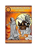 Spooky Halloween coloring book for adults - Volume 10 by Prajakta P Spiral bound paperback stress relieving patterns for grown ups [並行輸入品]