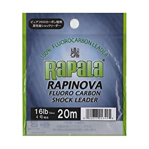 ラパラ(Rapala) ラピノヴァ フロロカーボン ショックリーダー 20m 4.0号 16lb クリア RAPINOVA FLUORO CARBON SHOCK LEADER RFL20M16