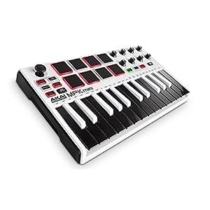 Akai Professional USB MIDIキーボードコントローラー 8パッド MPK mini MK2 WHITE