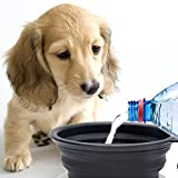 【Momugs Akira】ペット用品 犬のボウル 猫のボウル シリコン製品 ペット折りたたみ碗 犬水飲み器便利式碗 アウトドア  餌やり 犬の食器 猫の食器 フック付き