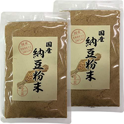 【国産100%】納豆粉末 50g×2袋セット 北海道産大豆使用