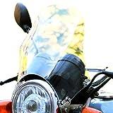 選べる3色 汎用 風防 カウル スクリーン メーター バイザー カウル ネイキッド 丸目 ※ クリアー 黒 青 (クリアー)