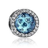 WOSTU カラーダイヤモンド スターリングシルバーチャームビーズ S925 レディース The Color Diamond(Cubic Zirconia Stone)Sterling Silver Charm
