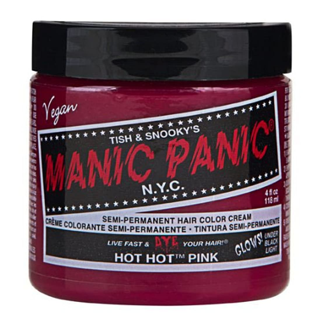 サンプルわずらわしい一緒にマニックパニック カラークリーム ホットホットピンク