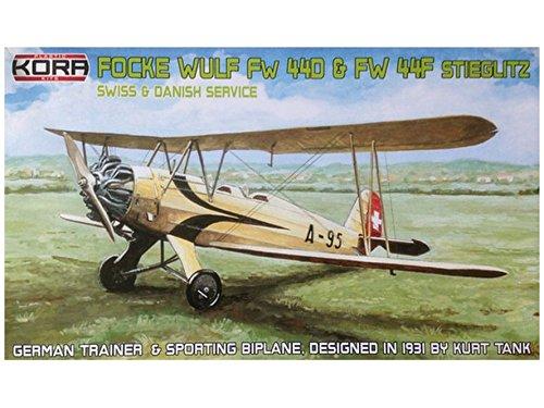 1/72 フォッケウルフ Fw44D/F  スイス&デンマーク  KORPK72045  コラモデルス  KORPK72045 フォッケウルフ Fw44D/F  B