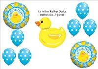 It 's A BoyベビーシャワーRubber Ducky Duckie Balloons Decorations Supplies