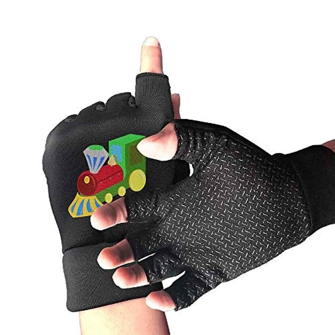 写真を描くミサイル貸し手Cycling Gloves Train Toy Men's/Women's Mountain Bike Gloves Half Finger Anti-Slip Motorcycle Gloves