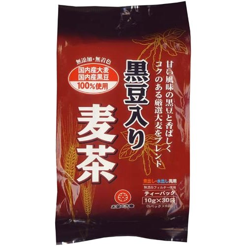 国産原料使用 黒豆入麦茶 ティーバッグ 10gX30