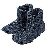 [Pinji] 北欧 スリッパ 冬 可愛い ボアスリッパ ルームシューズ 静音 あったか 室内 ボアブーツ シューズ もこもこ 防寒 洗濯可 室内履き用 男女兼用 ブルー Lサイズ 27.5cmくらいまで