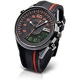 [フランテンプス]Franc Temps 腕時計 レーシング デジアナ表示 (ブラック) 10気圧防水 FTRC-BK メンズ
