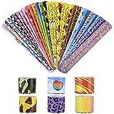 VABNEER Slap Bracelets Slap Bands Party Bag Fillers Wristbands Party for Kids Boys Girls Adults (30 Pack)